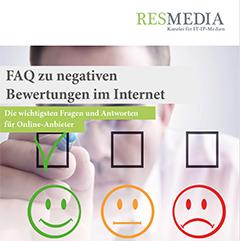 """Neuer Ratgeber """"FAQ Zu Negativen Bewertungen Im Internet"""" Für Online-Anbieter Zum Kostenlosen Download"""