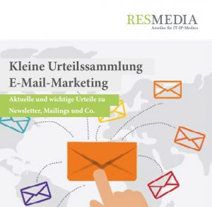 Urteile E-Mail-Marketing