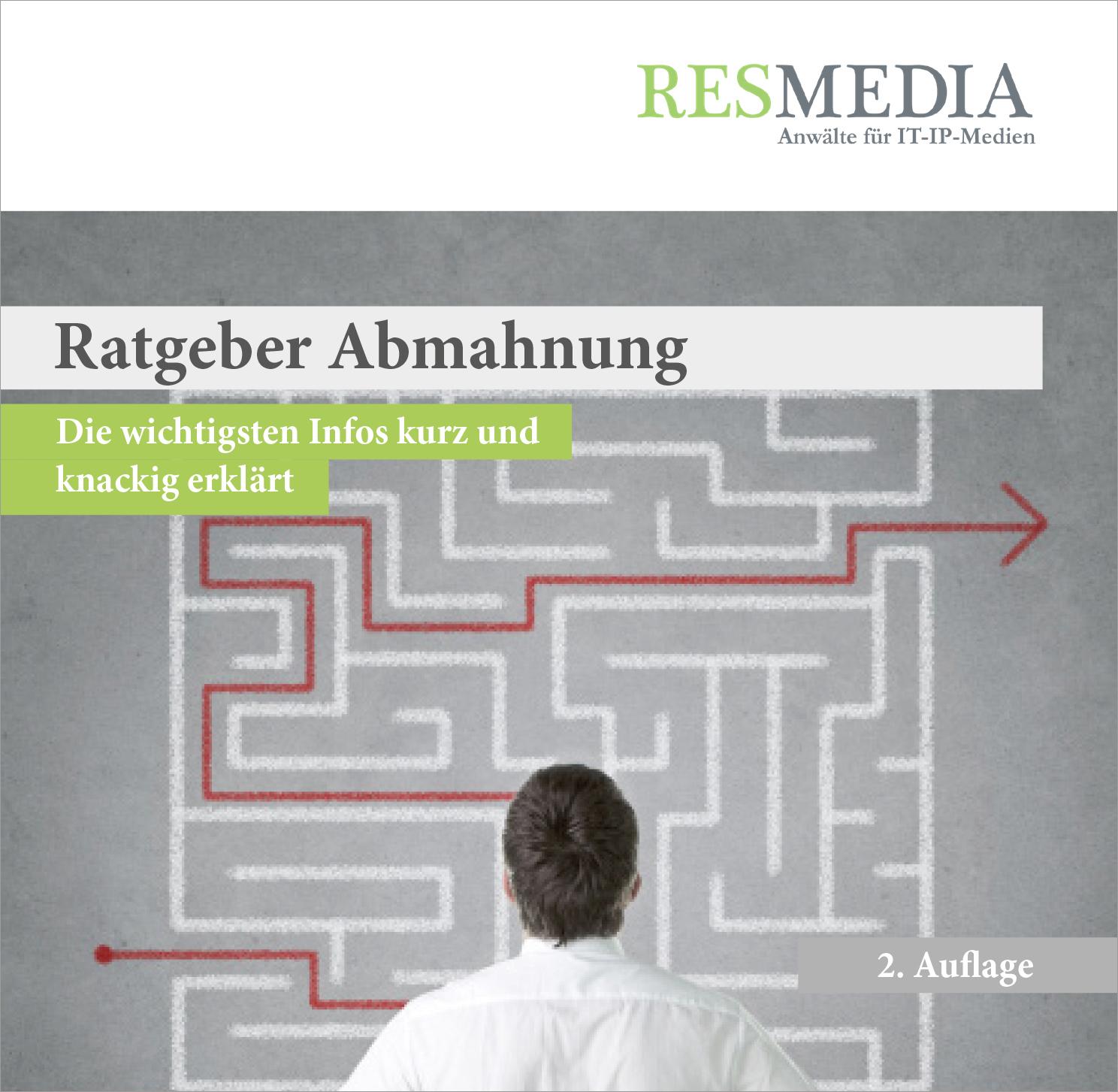 Titel_RESMEDIA_Booklet_Verhalten bei Abmahnungen