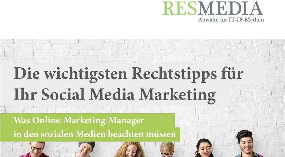 Booklet Social Media Marketing Recht