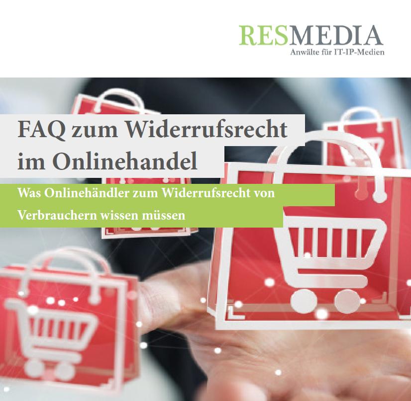 Booklet FAQ zum Widerrufsrecht